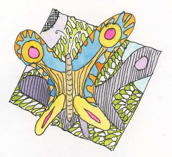 butterfly doodle 2021 by Rebecca Fish Ewan