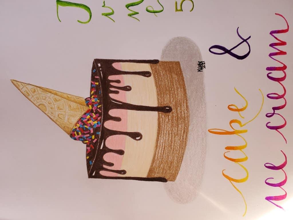 Day 5- cake and ice cream 20210605_174426