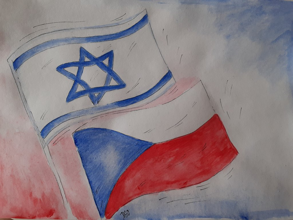 I decided to paint flag of my nation, and flag if nation which i honor and respect the most. 2021062
