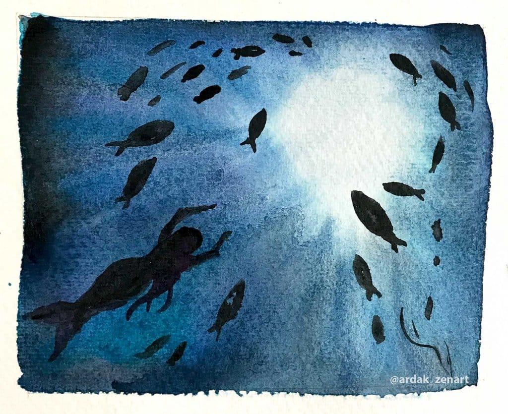 Under the sea by Ardak Kassenova