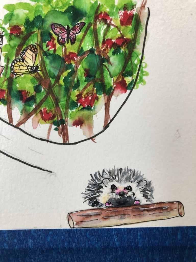 #DoodlewashJune2021 Prompt Day 6: Hedgehog 70EBBCD1-C5FE-4934-94A8-5A5440F38173