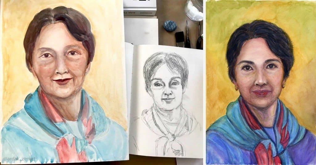 9 Portrait of Mama by Ardak Kassenova