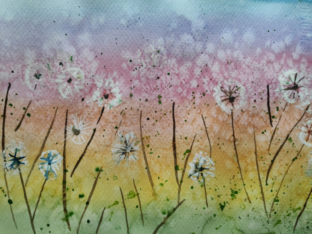 #day20 #dandelion #doodlewashjune2021 #worldwatercolorgroup IMG_20210620_110111_702