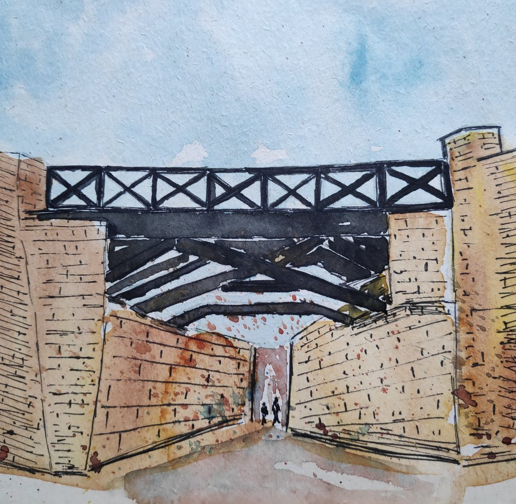 #day23 #bridge #doodlewashjune2021 #worldwatercolorgroup IMG_20210623_055818_128