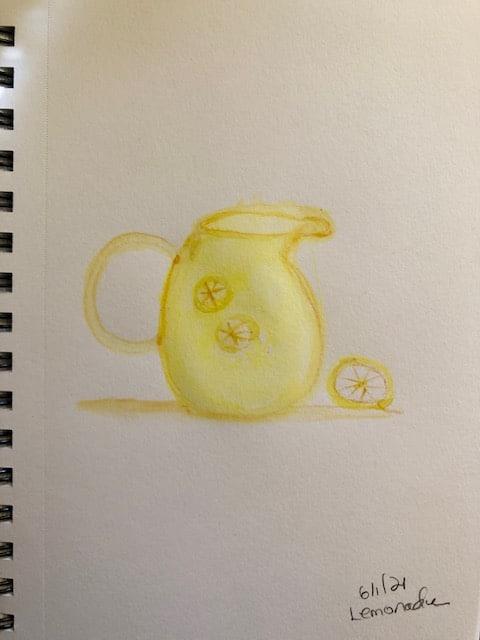 I little lopsided pitcher of lemonade #doodlewashjune2021 day 1 IMG_6939