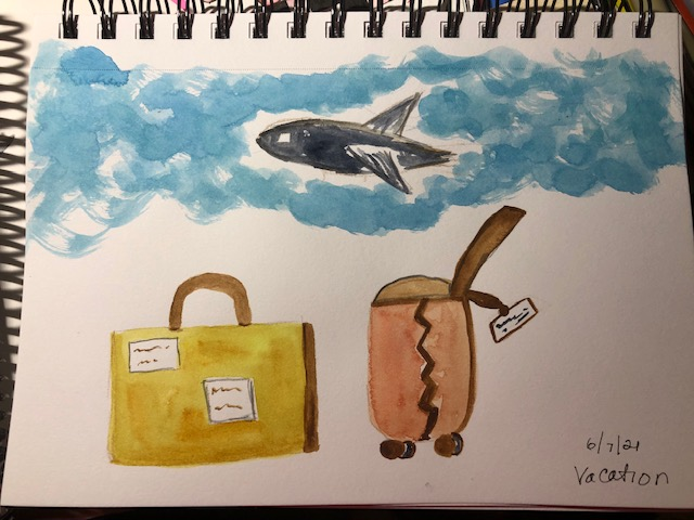 #doodlewashjune2021 vacation ready to board the plane to anywhere at this point 🙂 And my little c