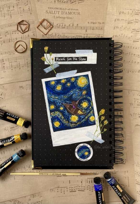 In the Spirit of Van Gogh sketchbook