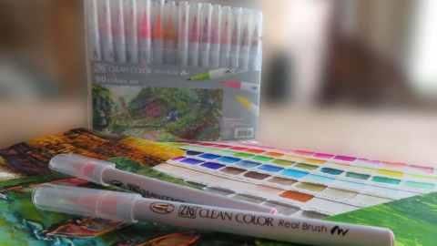 ZIG Clean Color Real Brush Pens Kuretake Review Main Image