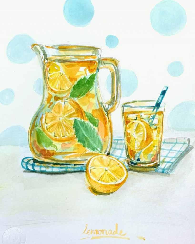 Lemonade – So summery and happy. Lemonade