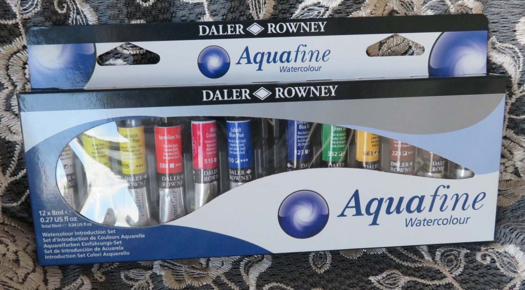 Introductory Aquafine Watercolour Tube Set by Daler-Rowney