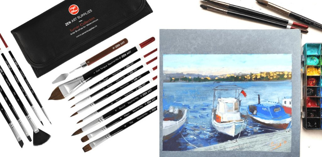 10 ZenART Turner Collection Boats in Bodrum 2019 Ayna Paisley