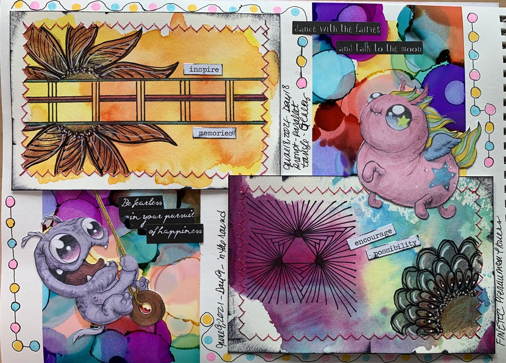 Sketching Journal Finetec watercolor examples