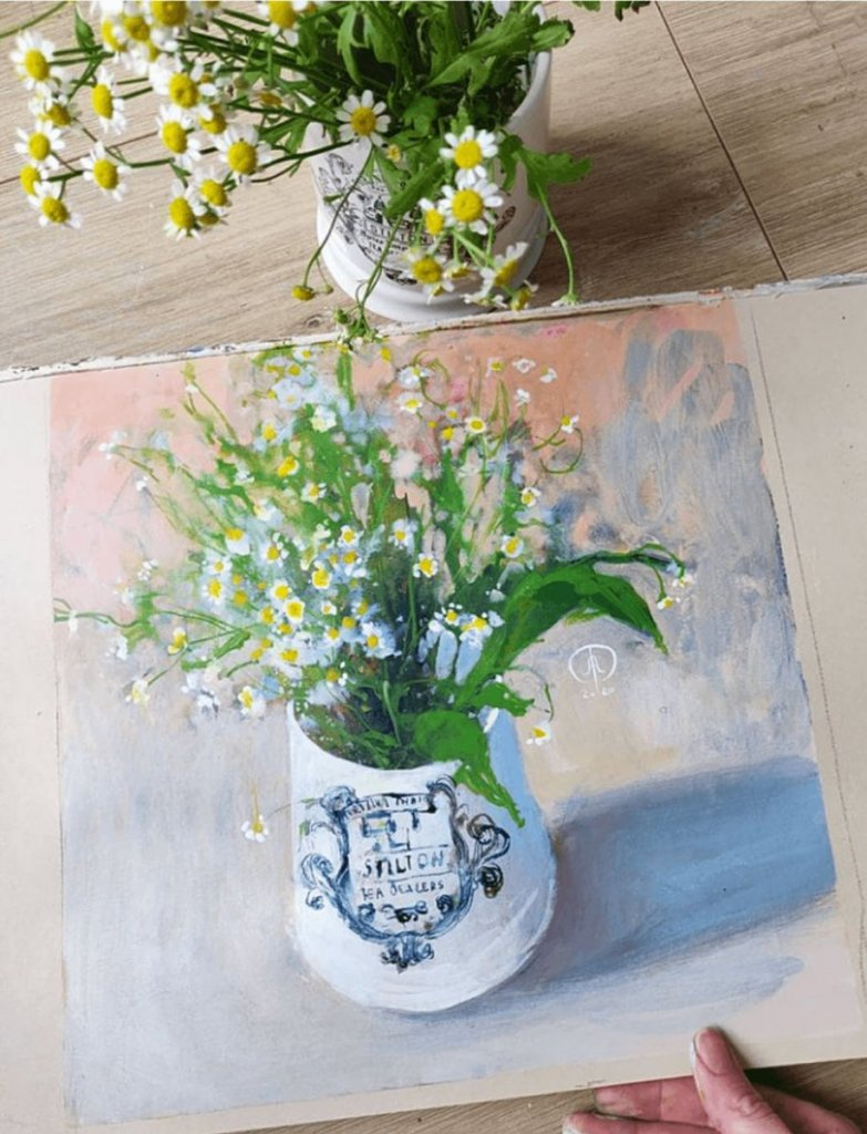6 Daisies Daily Bouquet 2019 Ayna Paisley
