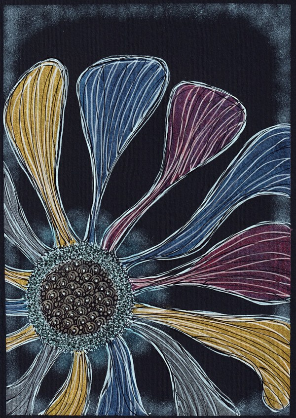 Pearlescent Colors Example on Black Paper