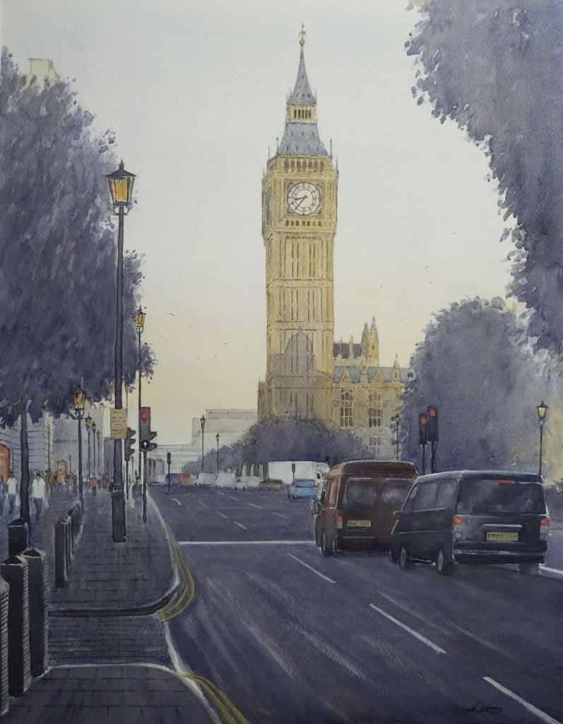 """ Big Ben "", London, England. Andrew Lucas Watercolour, 50 x 40 cm. I hope you enjoy. Bi"