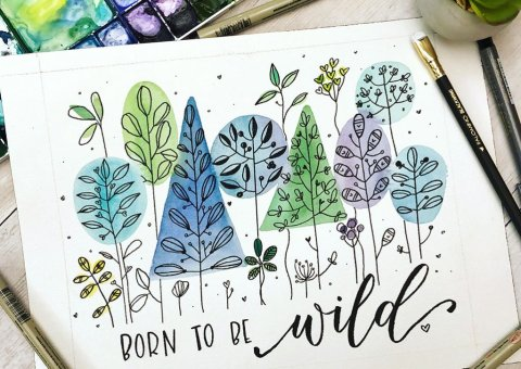 Born to be wild Leslie Tieu watercolor cropped