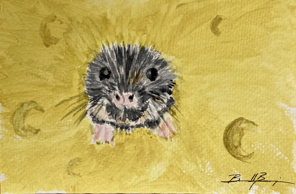 Day 15 – This effervescent little mouse…well he's pretty happy. D30D194E-9058-4F29-8CEE-6C