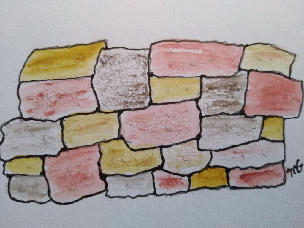 Doodlewash prompt Rough Painted a brick wall IMG_20210716_232832_272