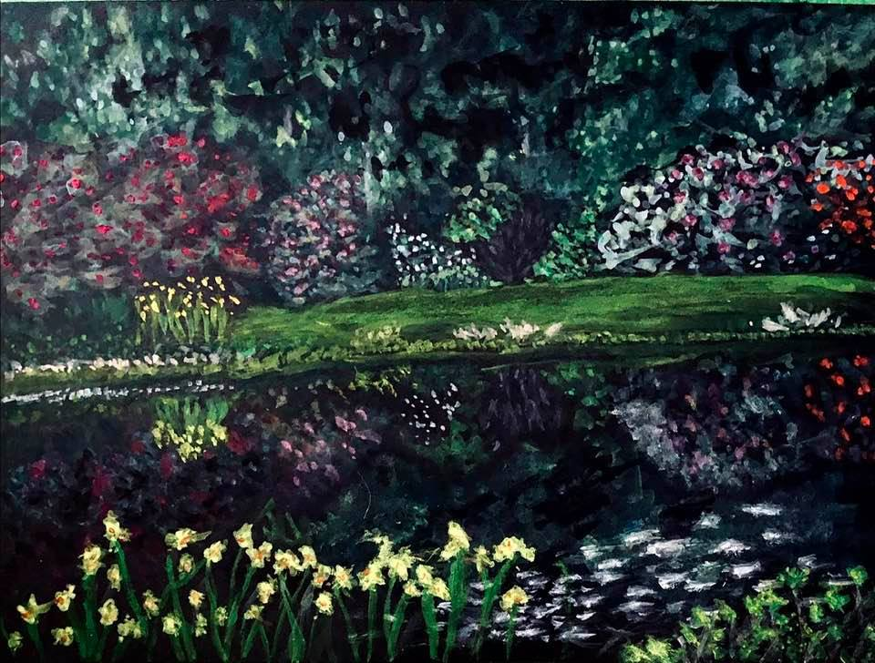 """#WaterWorldColourMonth """"Reflection"""" Wanted to capture this pond but hadn't done mu"""