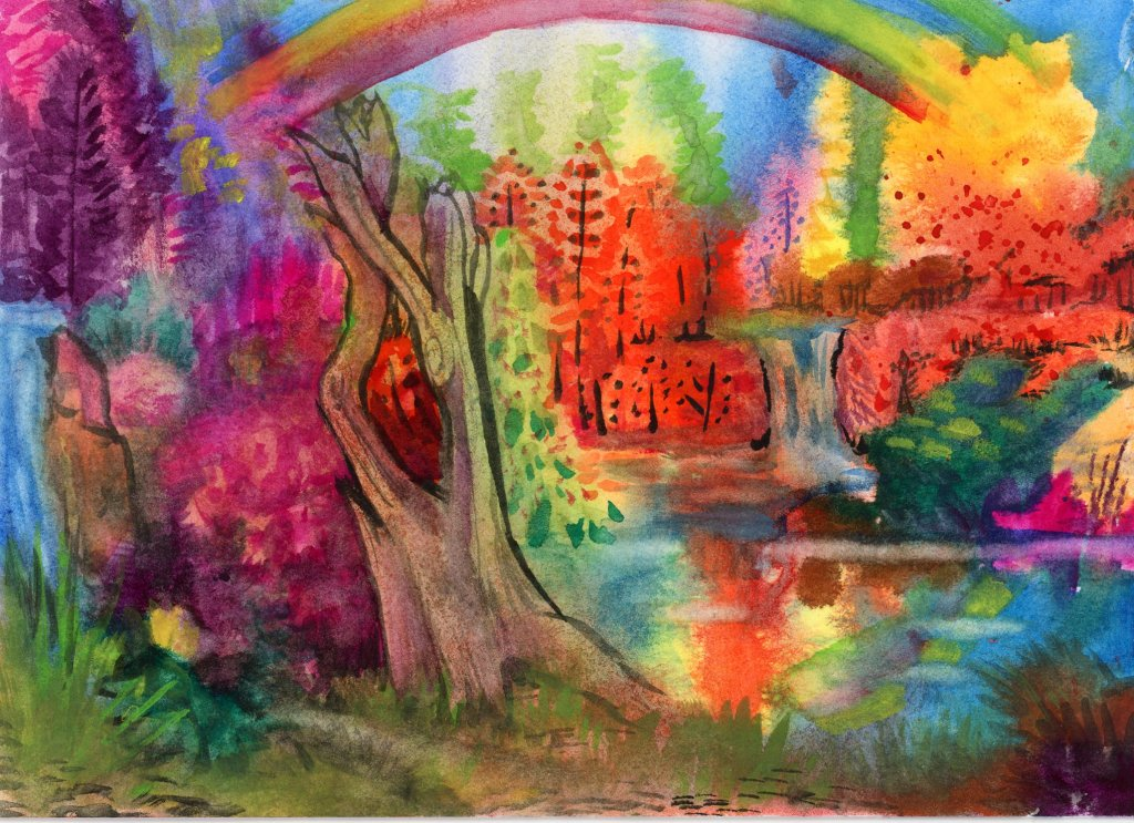 Adding the examples, to my gallery, from today's review of ZenArt's Allegro watercolor s