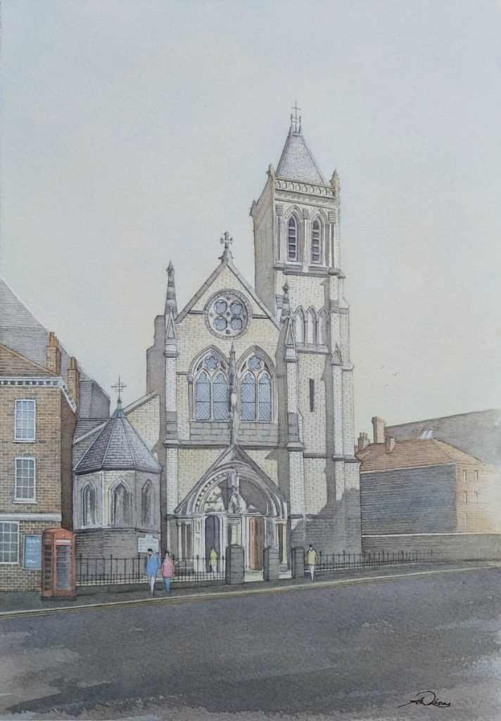 """ The York Oratory "", England. Andrew Lucas Watercolour, 35 x 25 cm, I hope you enjoy. T"