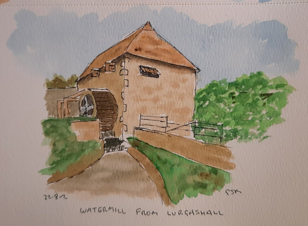The watermill from Lurgashall at the the Weald and Downland Living Museum. #doodlewashaugust2021 Day