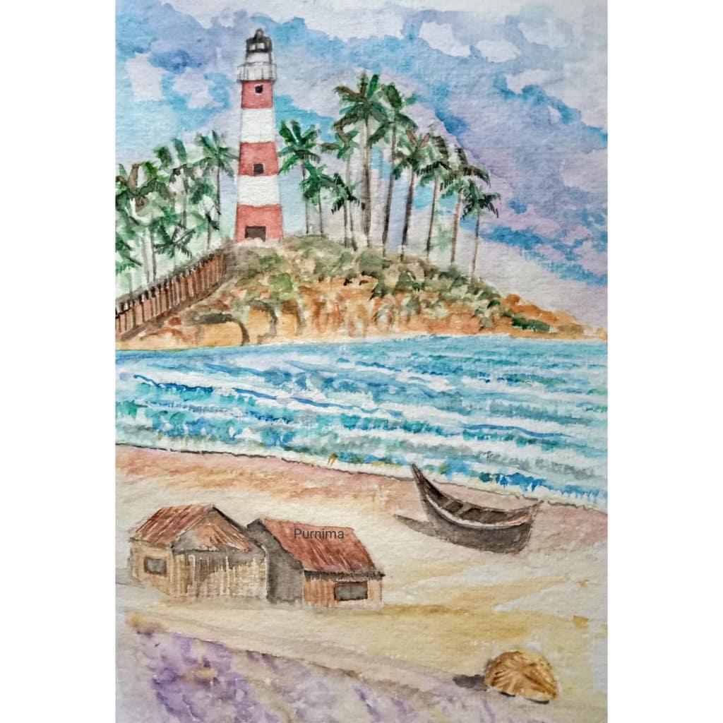 Seaside, Kovalam beach,Kerala for #doodlewashaugust2021 CollageMaker_20210803_162117888