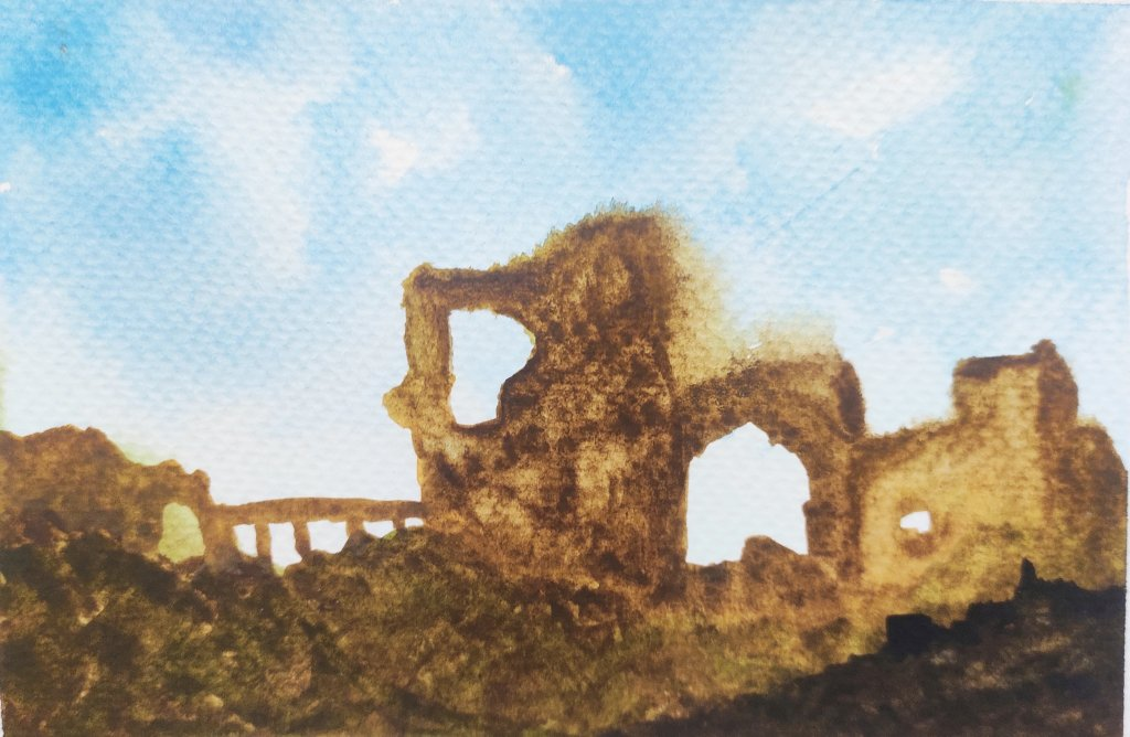 Castle ruins.. Day 04 Prompt : Castle #doodlewashAugust2021 IMG_20210803_200724