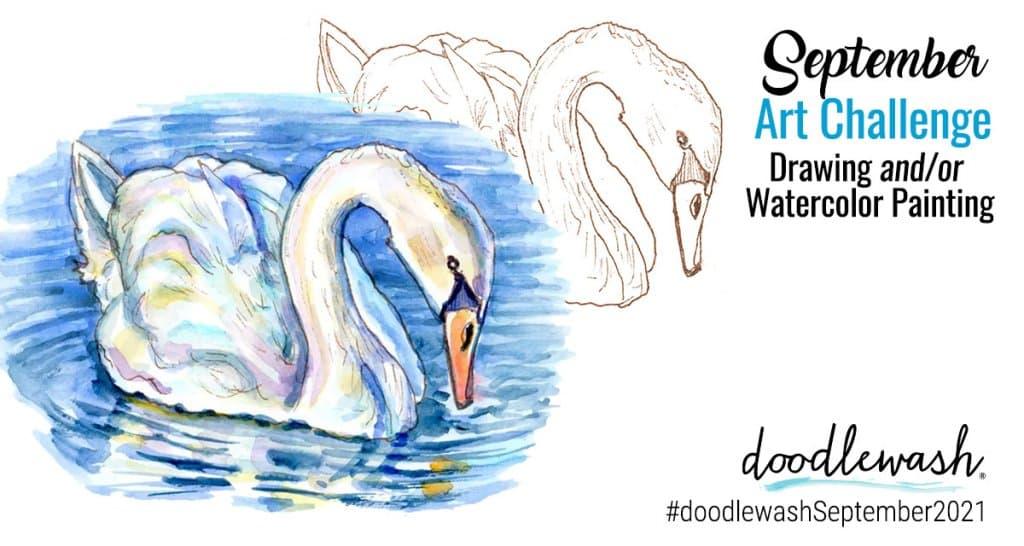 September 2021 Doodlewash Drawing Painting Challenge