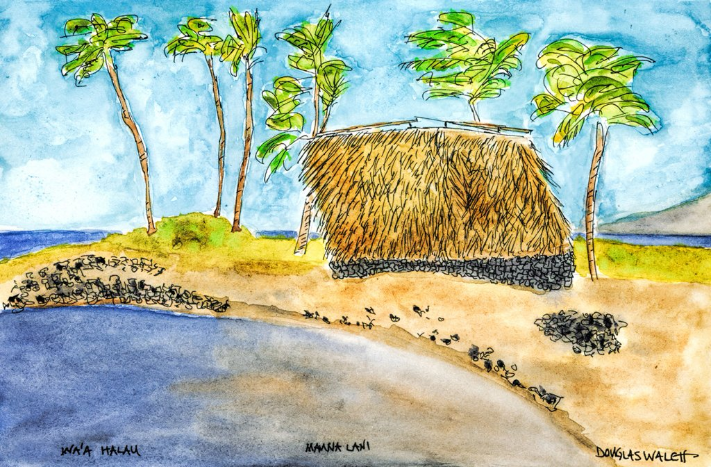 I've photographed this scene many times and finally decided I was ready to paint it. Wa'a