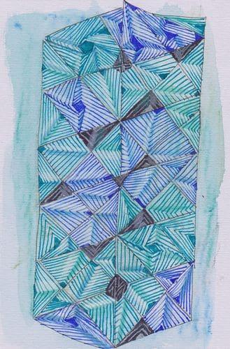 Some doodle drawing on watercolour testpages. marihillinspiredkleinmaryhillwckleinmojo128dreamcatche