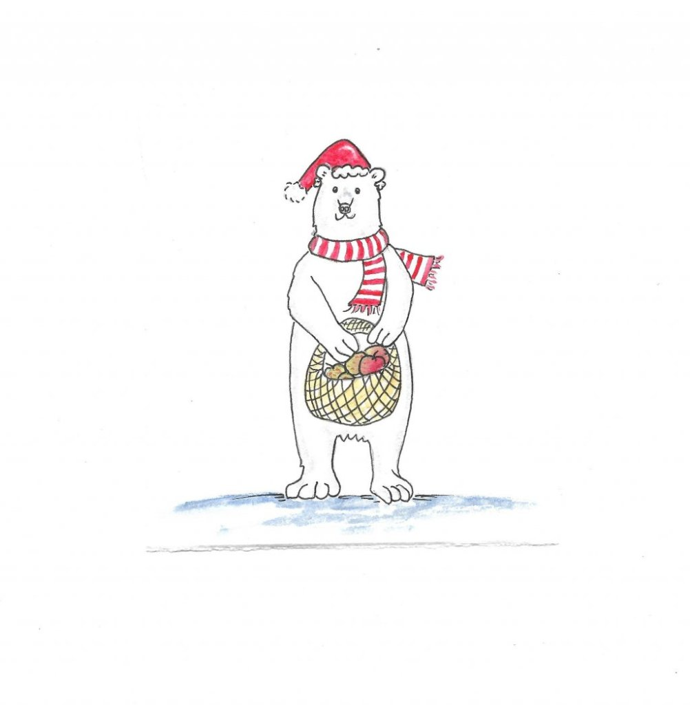 Polar Bear – Apple New Year… polar bear apple new year