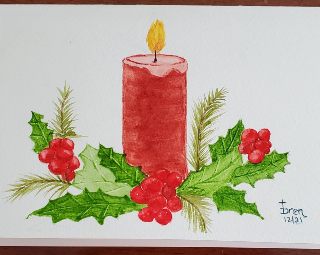 Been busy painting 45 Christmas cards, here are a few examples 20210911_15152920210911_1515252021091