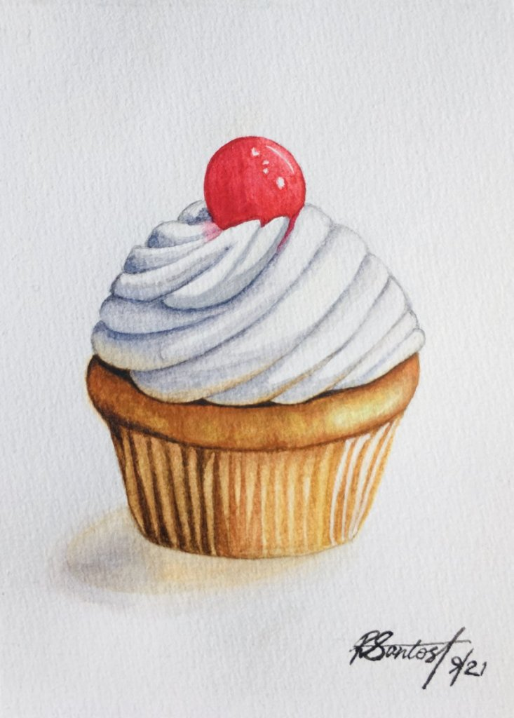 Day 11: Cupcake I was so eager to complete this one! 😋 #doodlewashSeptember2021 48E977B0-A8B