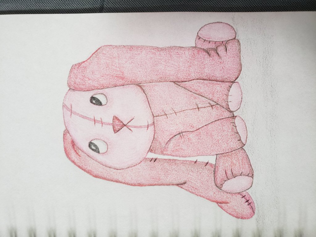 21: stuffed animal #doodlewashOctober2021 I am not sure I like the way this one turned out. 20211018