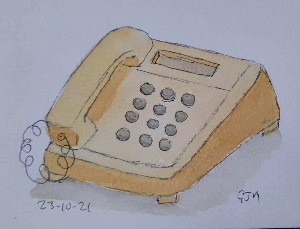 Dog and bone – cockney rhyming slang for telephone. #doodlewashoctober2021 Day 24 Bones. #worl