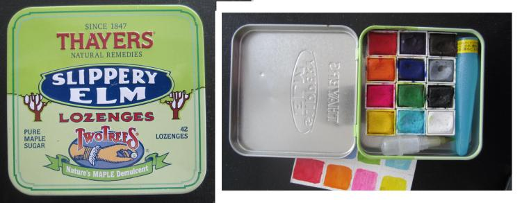 DIY Travel Palette made from Thayers Lozenge