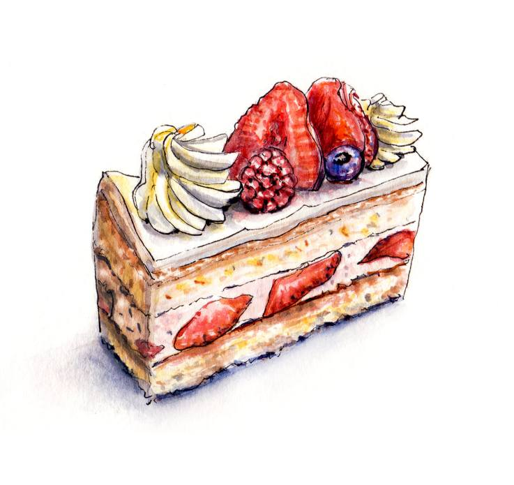 Day 19 - Strawberry Sponge Cake Slice