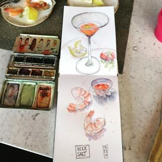 Jesse Chapman Doodlewash of shrimp cocktail