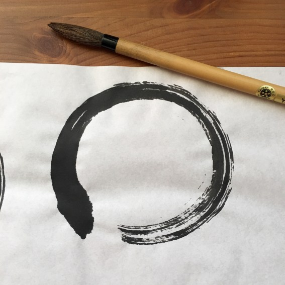 Enso with sumi brush