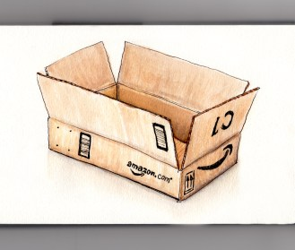 Day 24 My Favorite Place To Shop Amazon.com empty box