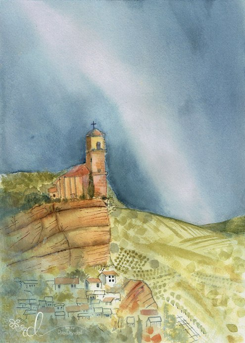 #WorldWatercolorGroup - Watercolour Painting By Rita Drysdall - montefrio - #doodlewash