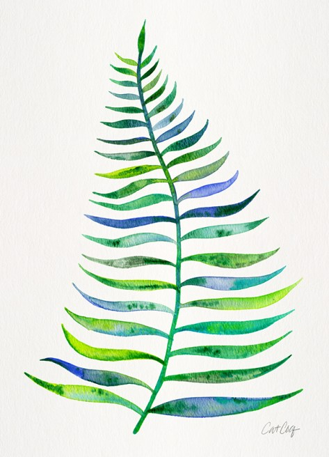 #WorldWatercolorGroup - Watercolor Art by Cat Coquillette - Palm Leaf - #doodlewash