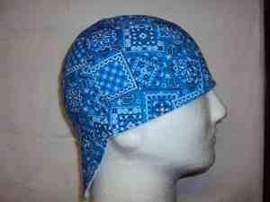 Classic Blue Bandana Welding Beanie Caps