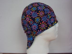 Crazy Daisy Flowers Welding Cap