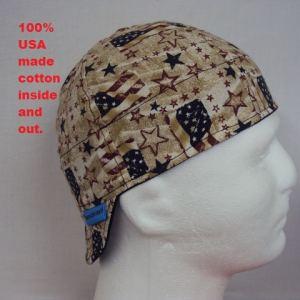 Antique American Flags Welding Cap