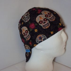 Antique Sugar Skulls Welding Cap