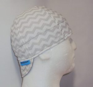 Grey Chevron Welders Hat