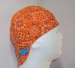 Classic Orange Bandana Welding Beanie Caps