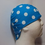 Polka Dot White On Turquoise Welding Cap